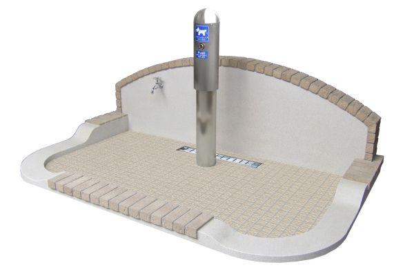 ドッグトイレ 水洗おしっこポールタイプ 信建工業のドッグラボ 犬のトイレ 犬の部屋 犬のケージアイデア
