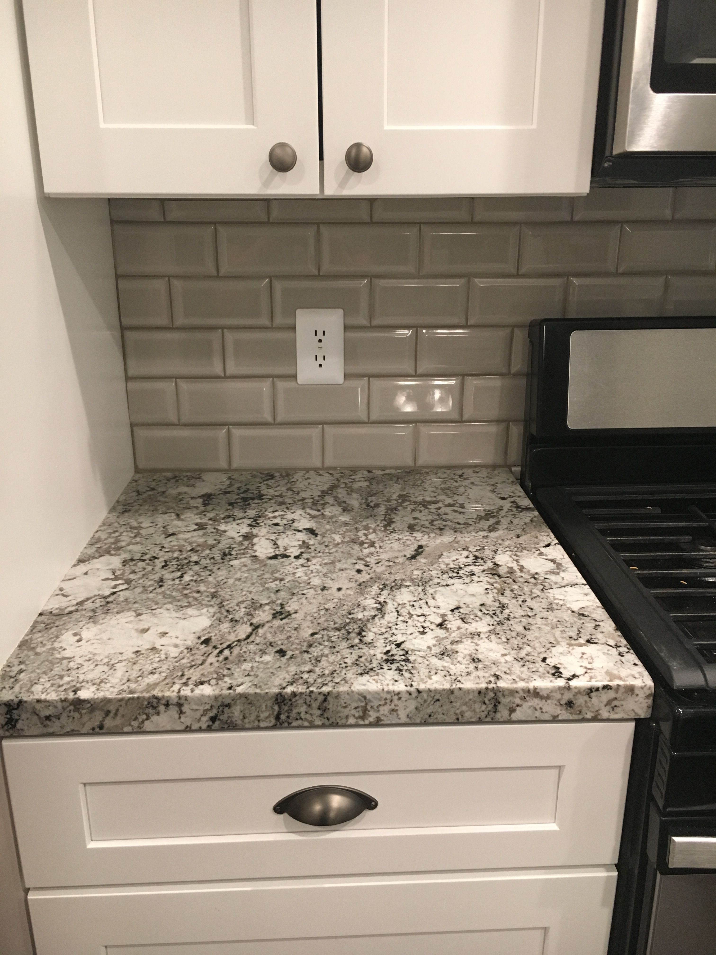 Arizona Bevel Ceramic Subway Tile In Pumice Kitchen Remodel White Granite White S Simple Kitchen Remodel Colonial Kitchen Remodel Kitchen Remodeling Projects
