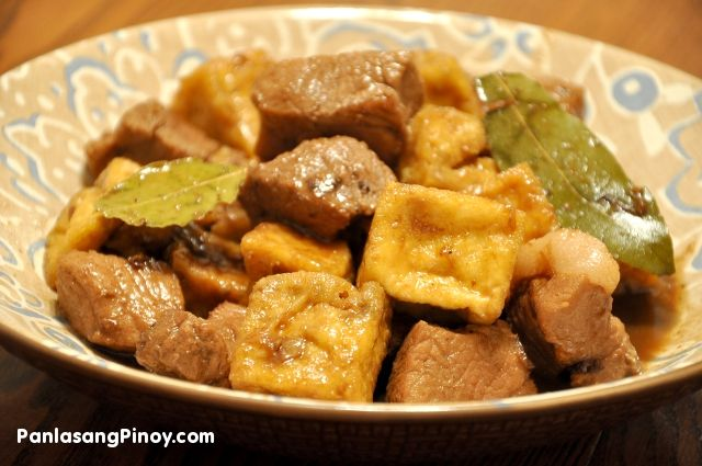 Pork Adobo with Tofu is an adobo recipe version that I really like. It has the good taste of our favorite Pork Adobo along with the chewy texture of tofu.