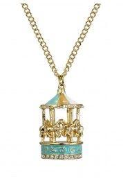 Pastel Blue Merry-Go-Round Necklace