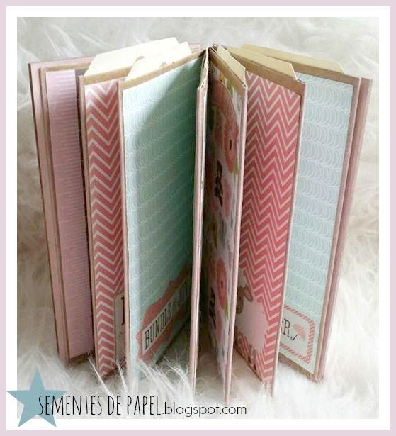 Sementes de papel: Mini album, bundle of joy, girl. Estructura ElesGo.