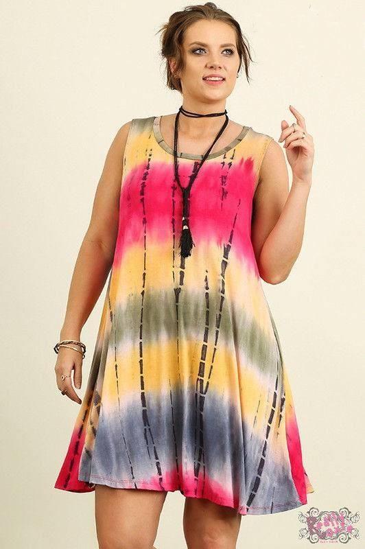 Curvy Tie Dye Dress