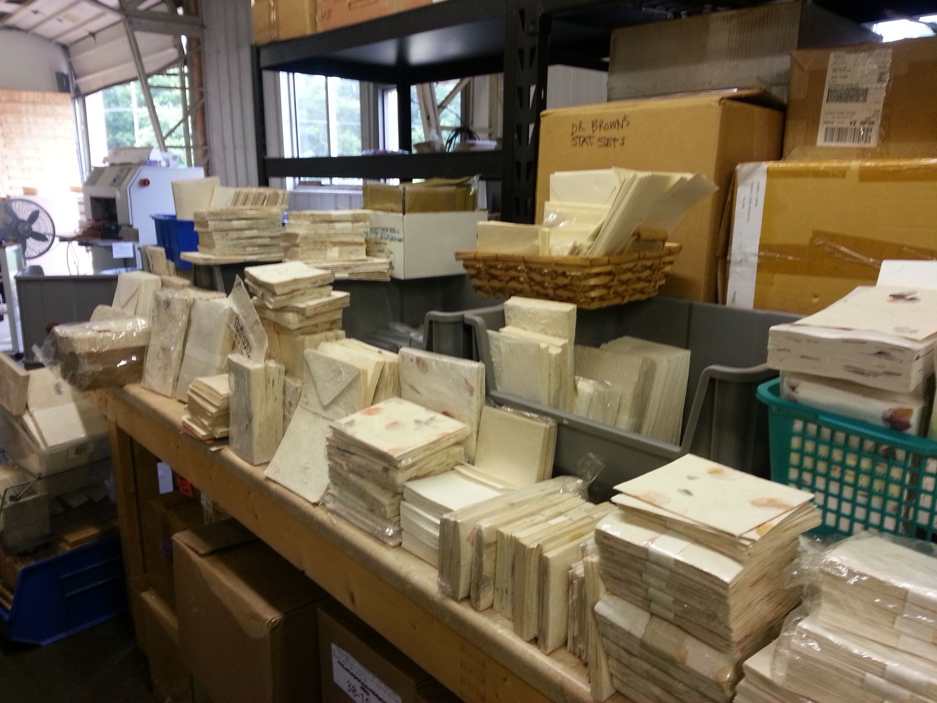 We got those boxes sorted, but there is lots of stationery. We are so excited - it is so beautiful!
