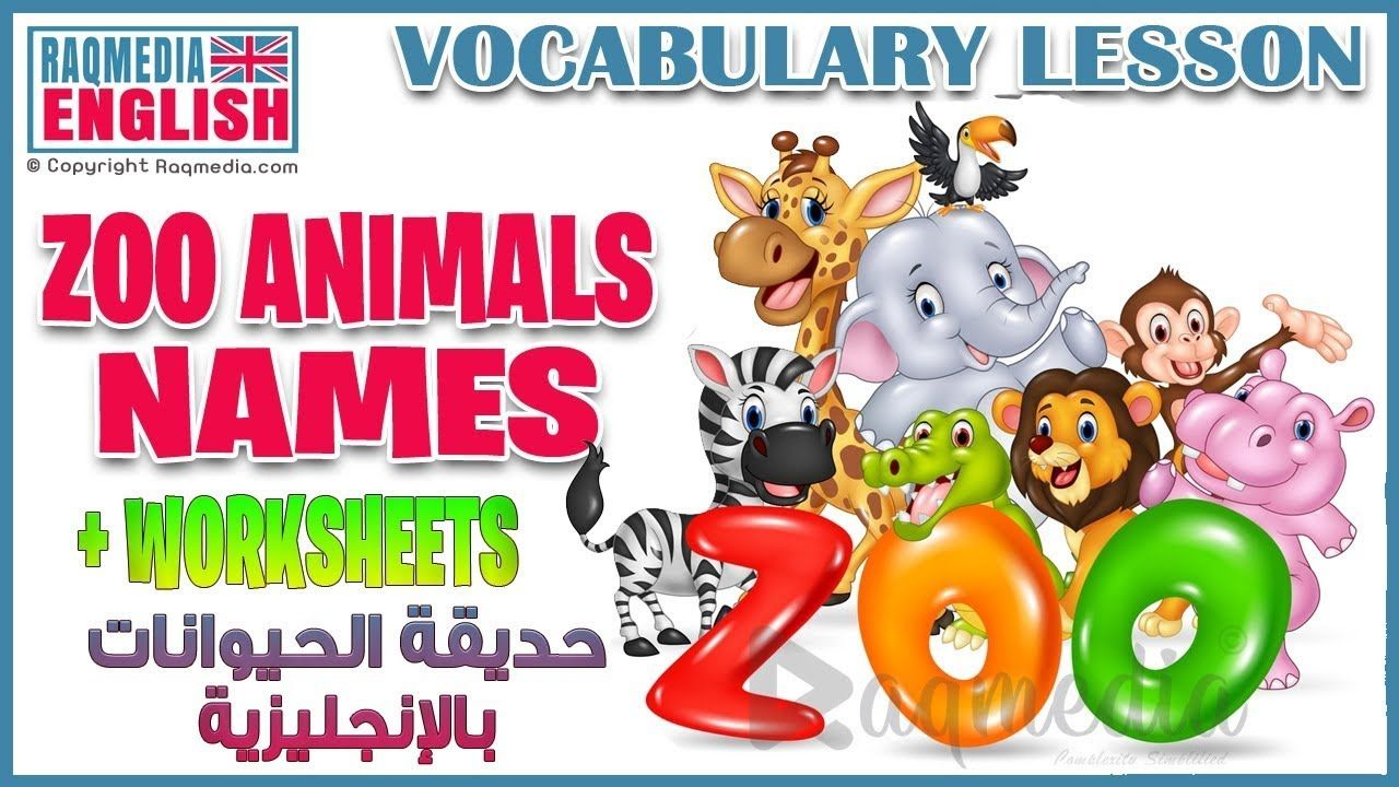 Learn Zoo Animals Names For Kids Basic English