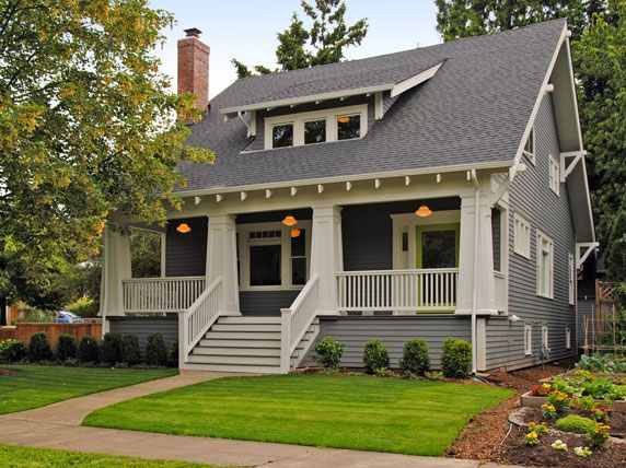 Bungalow With Schoolhouse Porch Lights Willamette Pendants Op 2280 10 4 Shades Craftsman Bungalows Bungalow Exterior House Exterior