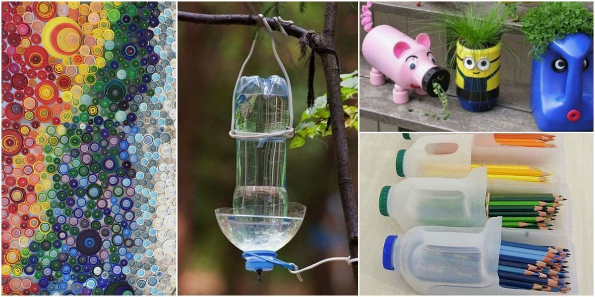 Recycle Plastic Bottles Ideas for Decoration Your Garden #plasticbottleart