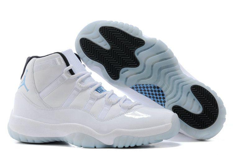 Authentic all white black blue shoe nike jordan air retro shoe for sale