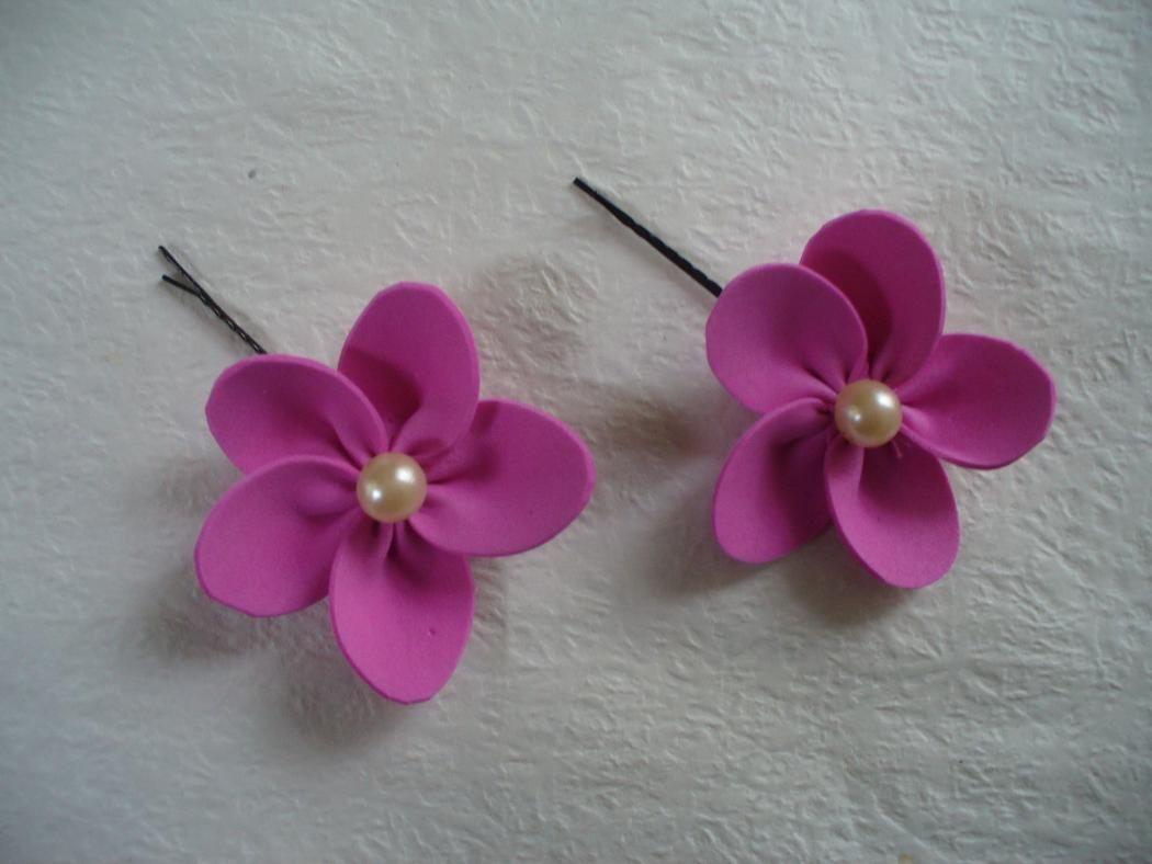 Diy Foam Paper Flower Hair Pins Diy For Kids Pinterest Diy
