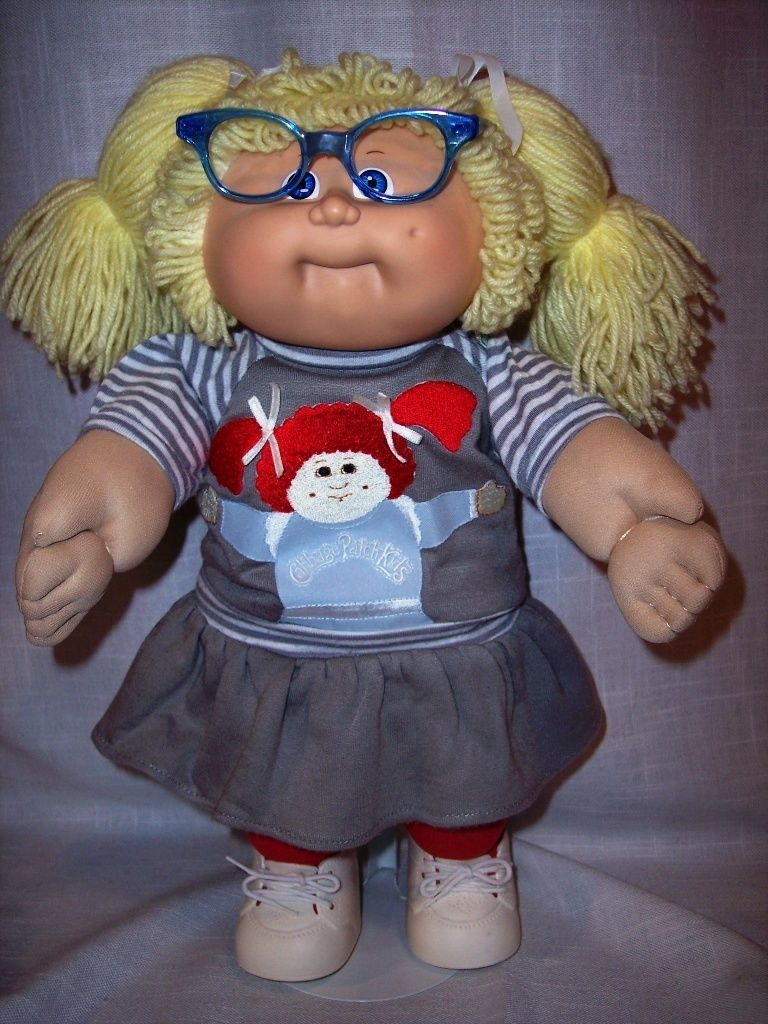 Vintage Coleco 1986 Cabbage Patch Kid Girl 8 Mold Glasses Ok Factory In Dolls Bears Dolls By Brand Comp Cabbage Patch Kids Cabbage Patch Dolls Patch Kids
