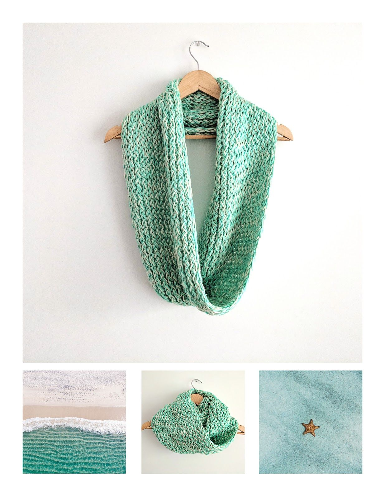 This is a free loom knitting pattern for an infinity scarf. This ...