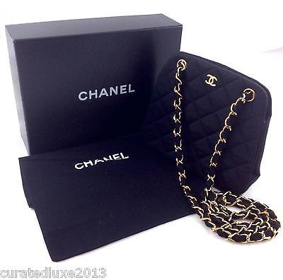 Authentic Chanel Vintage Mini Quilted Silk Faille Handbag In Clothing Shoes Accessories Ebay