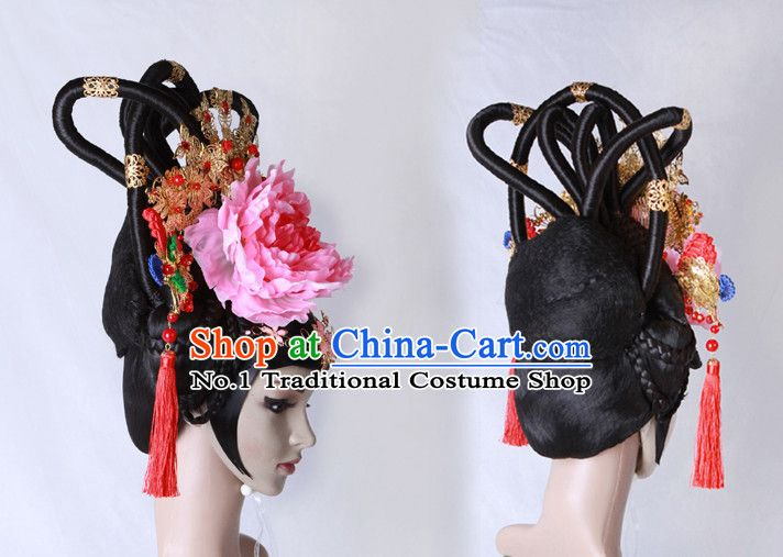 Chinese costumes wigs hair accessories hanfu traditional dress ancient costume