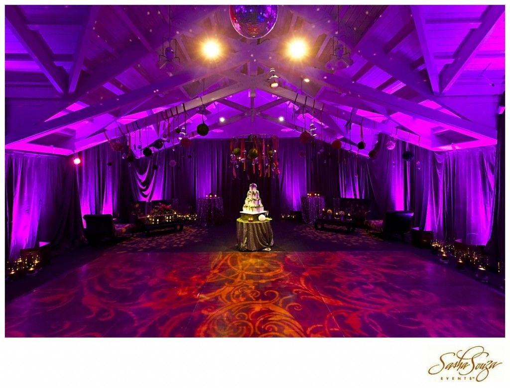 Lighting dance floor wedding