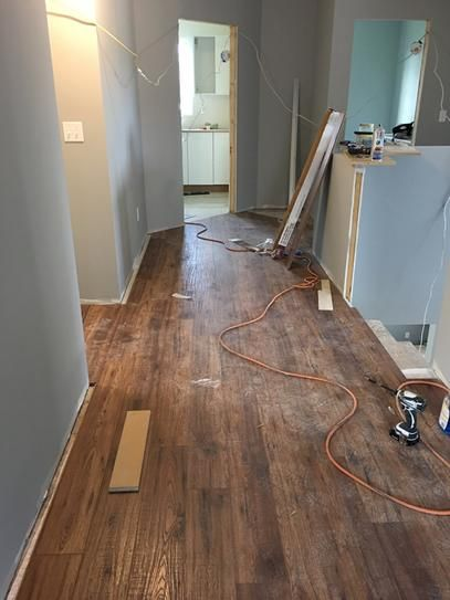 Distressed brown hickory hdc laminate