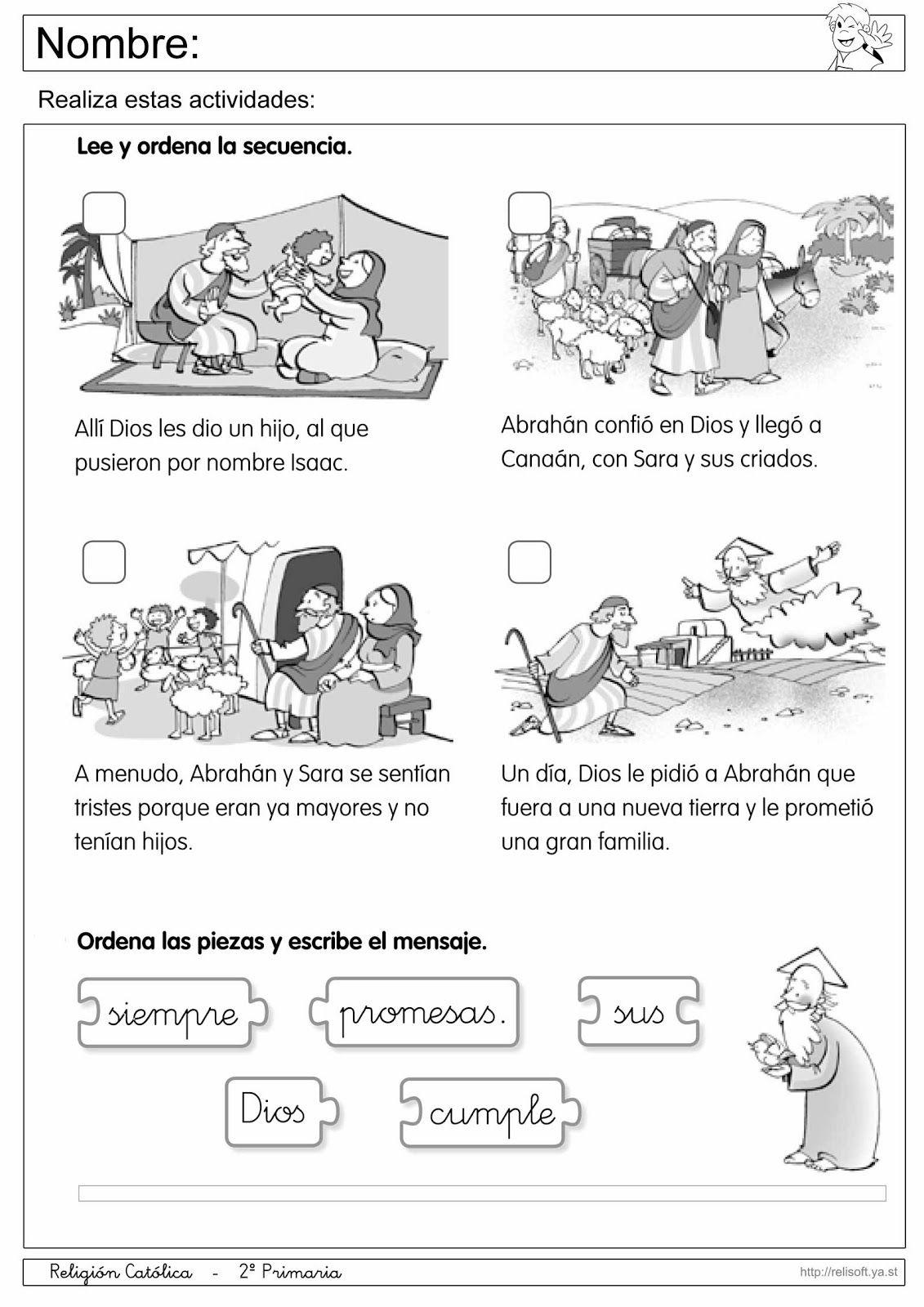 Recursos Religion Católica: Fichas 1º y 2º Primaria   Proyectos que ...