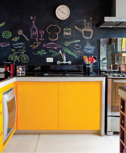 Consider chalkboard paint on pantry door or space between kitchen ...