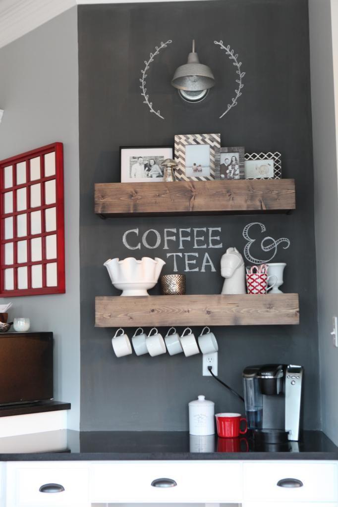 Desk Turned Coffee Bar Mur Ardoise Coffee Bar Home