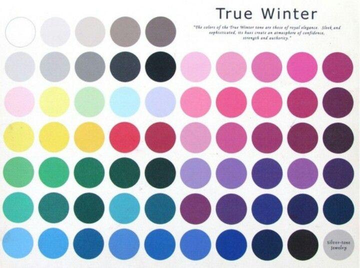 True Cool Winter Color Palette Style Pinterest
