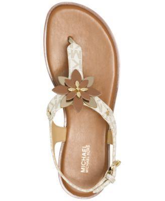 ddc68253b857 MICHAEL Michael Kors Heidi Flat Thong Sandals