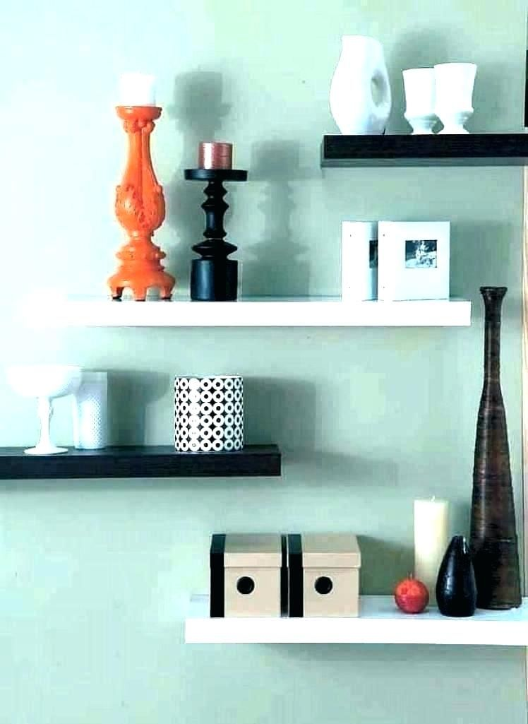 Try Staggering Small Free Handing Shelves Onto Your Wall In Addition To Adding Functional Space Wall Shelves Bedroom Living Room Shelves Shelves In Bedroom