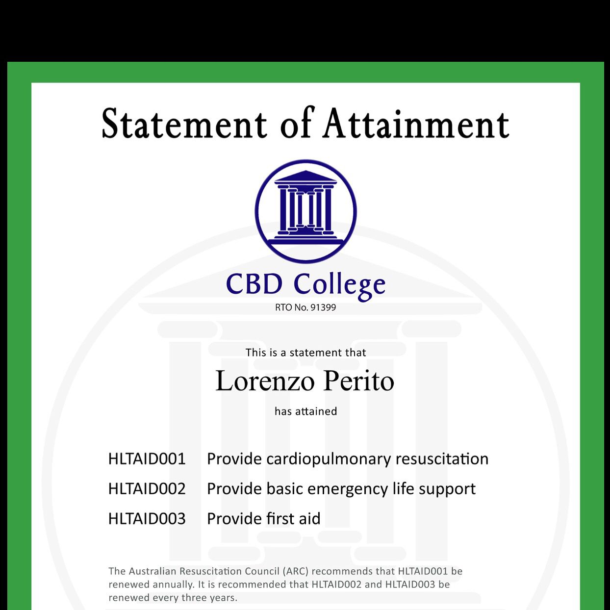 First aid and cpr renewed my certificates pinterest certificate first aid and cpr renewed xflitez Choice Image