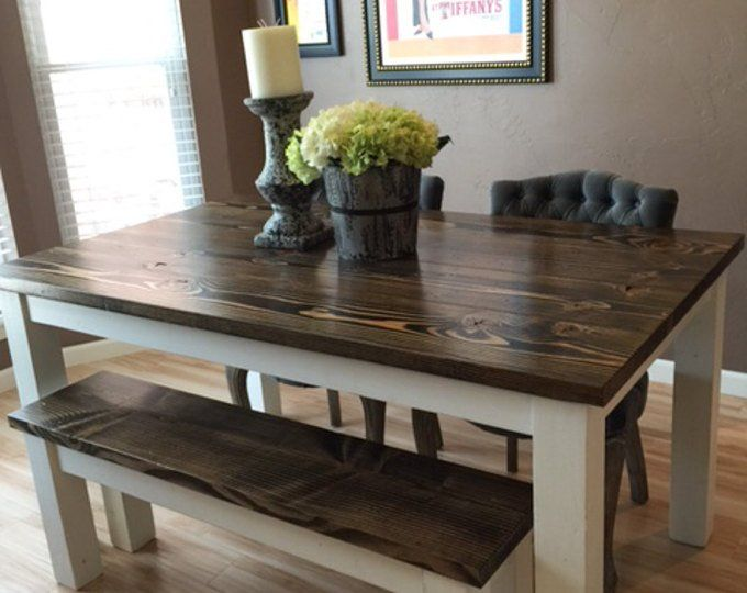 Square Coffee Table   Solid Wood Farmhouse Coffee Table   Rustic Coffee Table   Built to Order ...