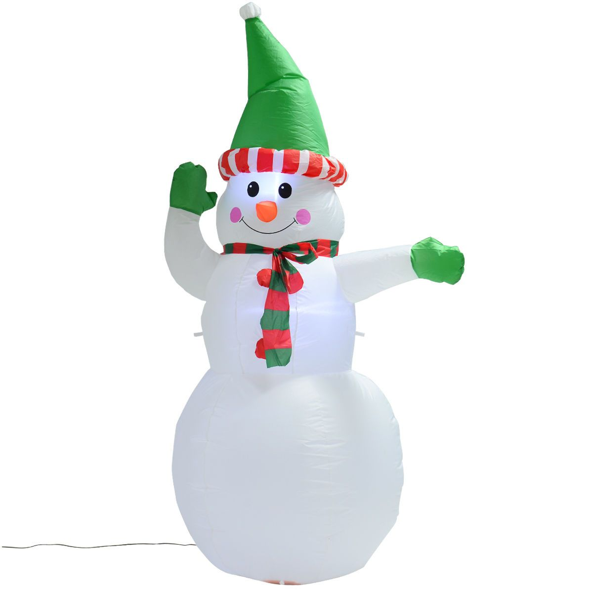 5Ft Airblown Inflatable Christmas Snowman Gemmy Decor Lighted Lawn ...