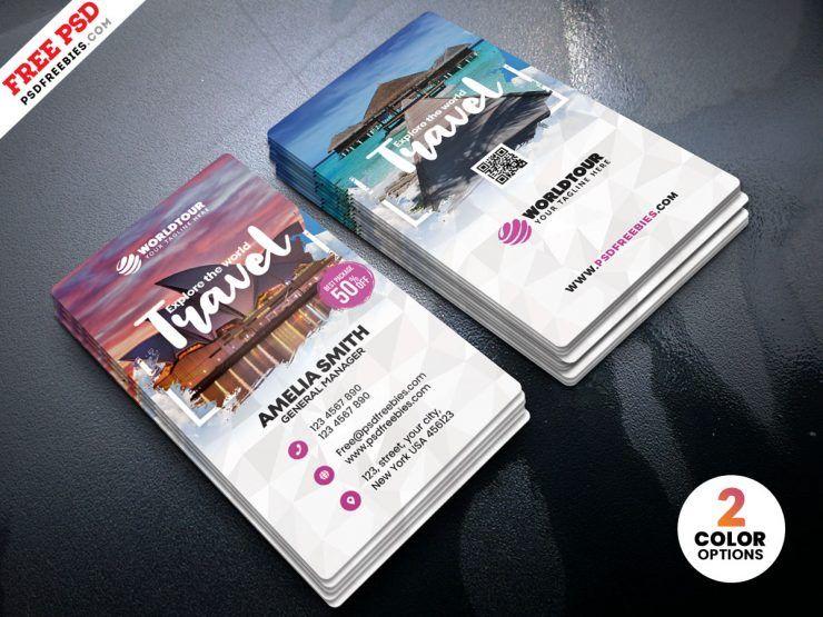 Travel Agency Business Card PSD Agency