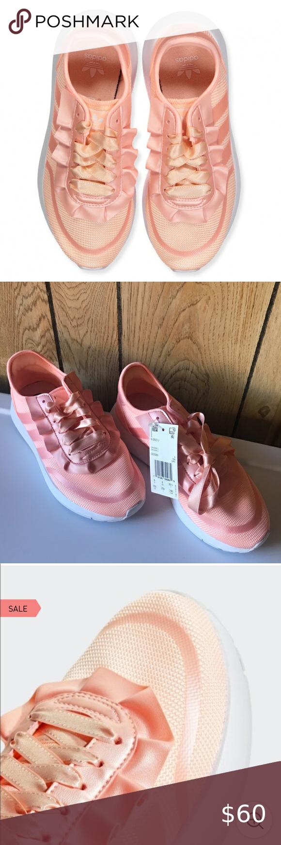 NWT ADIDAS blush pink ribbon athletic