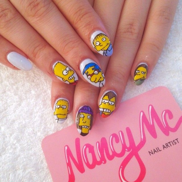 The Simpsons boys! Happy Birthday @coyote_ogly Email nancy@mcnails ...