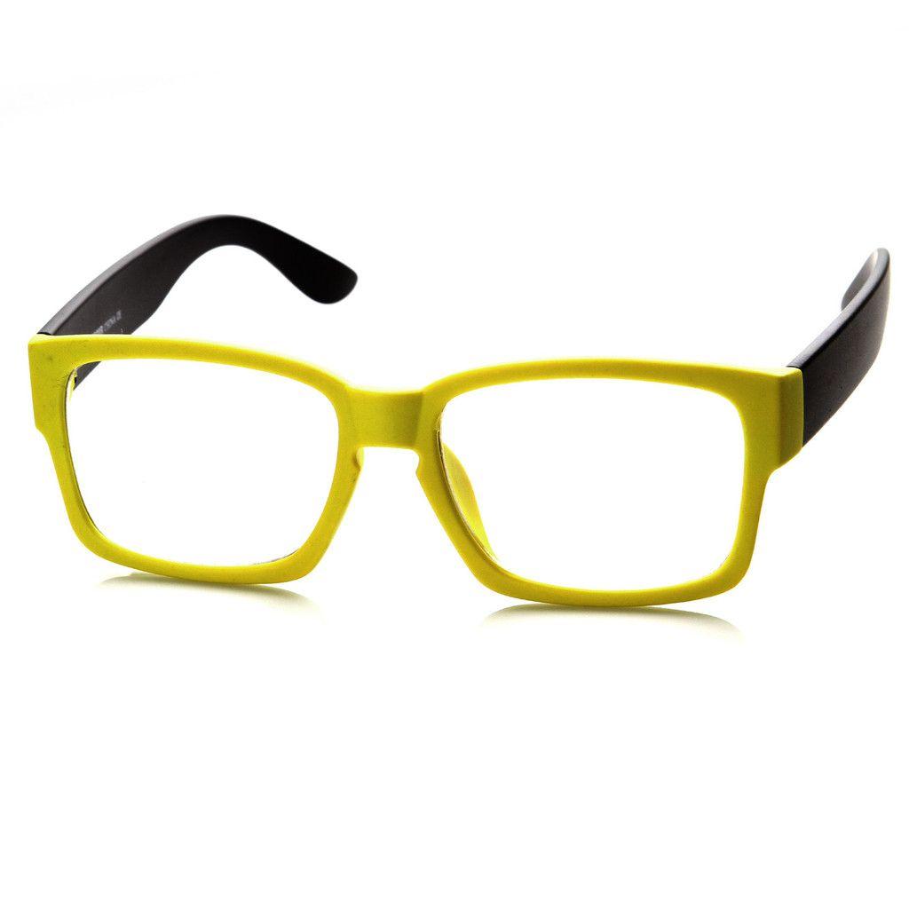 New Modern Two Tone Color Square Optical Frame Glasses 8718 Designer Eye Glasses Fashion Eye Glasses Chic Glasses