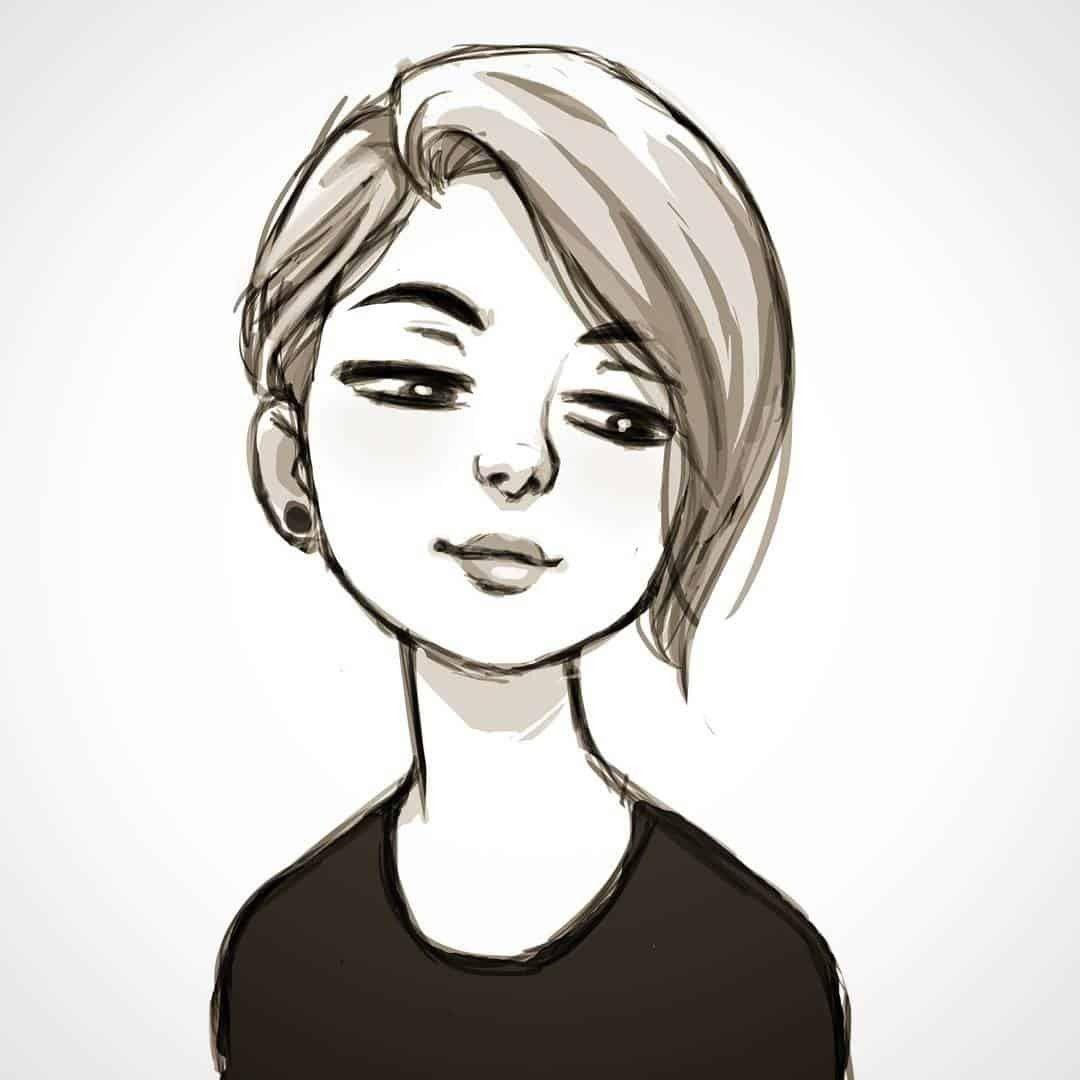 48 Different Cartoon Character Design Ideas Art In 2020 Short Hair Drawing Cartoon Hair Cartoon Character Design