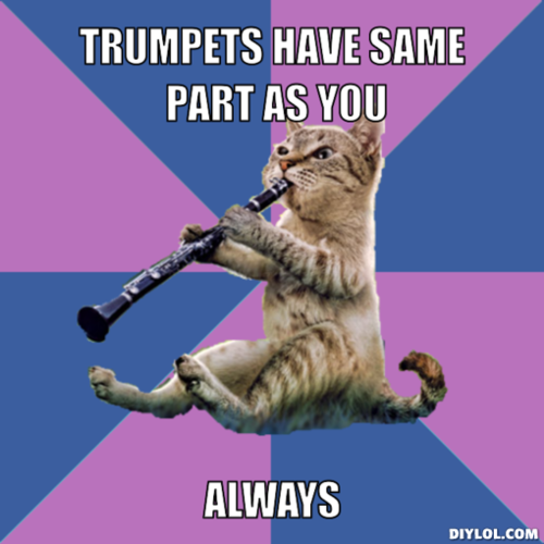 Clarinet Cat, amirite? Fuck you trumpets, you guys are lame