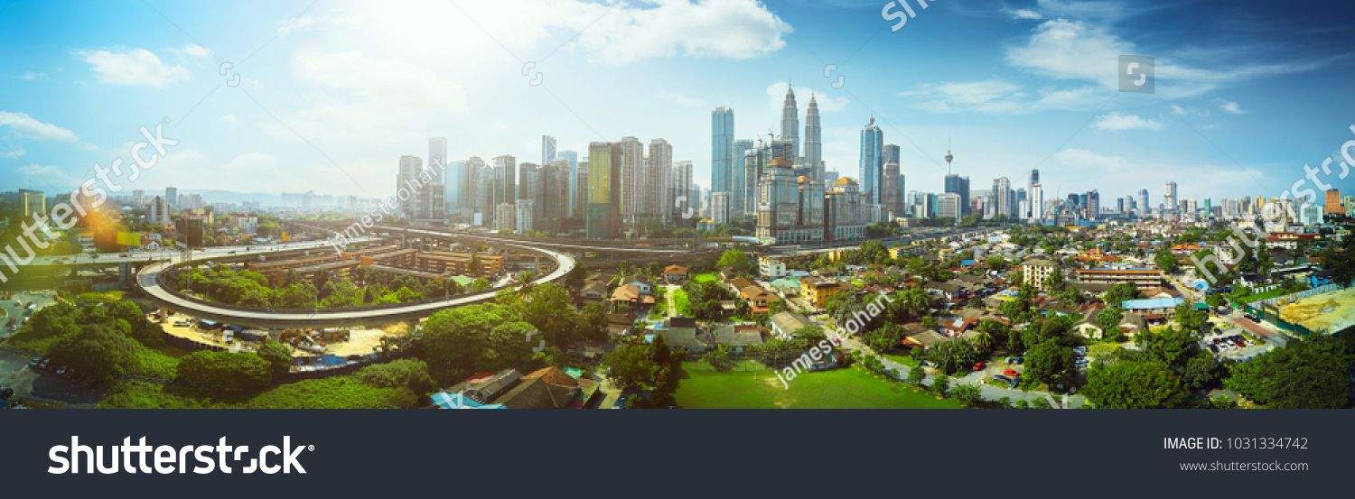 Panorama Cityscape View In The Middle Of Kuala Lumpur City Center Day Time Malaysia Middle Kuala View Panorama Cityscape Kuala Lumpur City Panorama