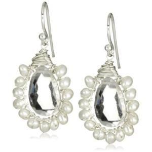 Amanda Sterett Annie Silver with Quartz Drop Earrings