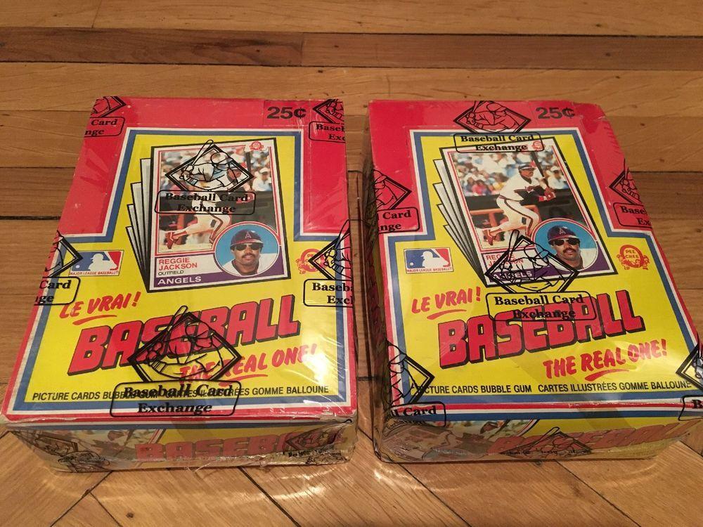 1983 opc opeechee baseball unopened wax box bbce wrapped