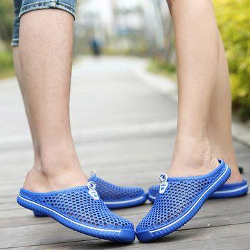Grande Taille Évider Plage Respirant Chaussures Plates UeuvLprAHs