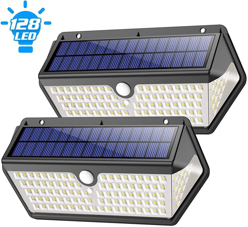 Solarlampen Fur Aussen Feob 2020 Neuestes Design Langlebige128led Solarleuchten Aussen Mit Bewegungsmelder Superhell 1200 In 2020 Solarleuchten Solarlampe Solarlampen