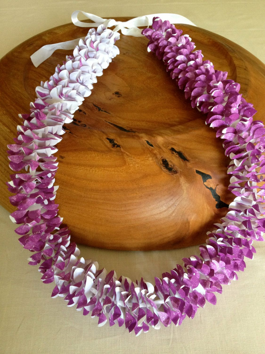 Traditional Orchid Paper Flower Lei Lovely Leis Pinterest
