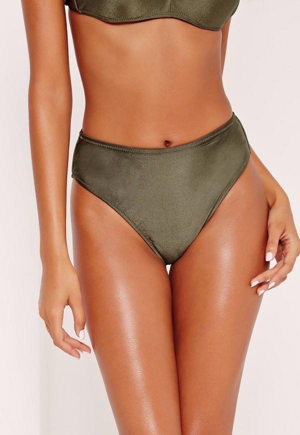 High waist high leg bikini