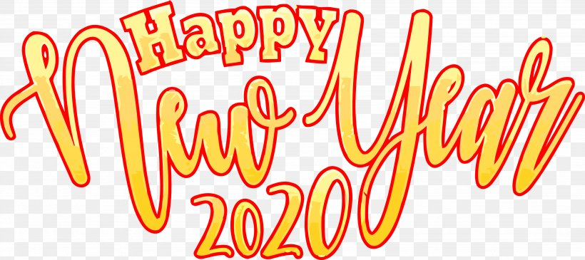 Happy New Year 2020 New Years 2020 2020, PNG, 3686x1641px