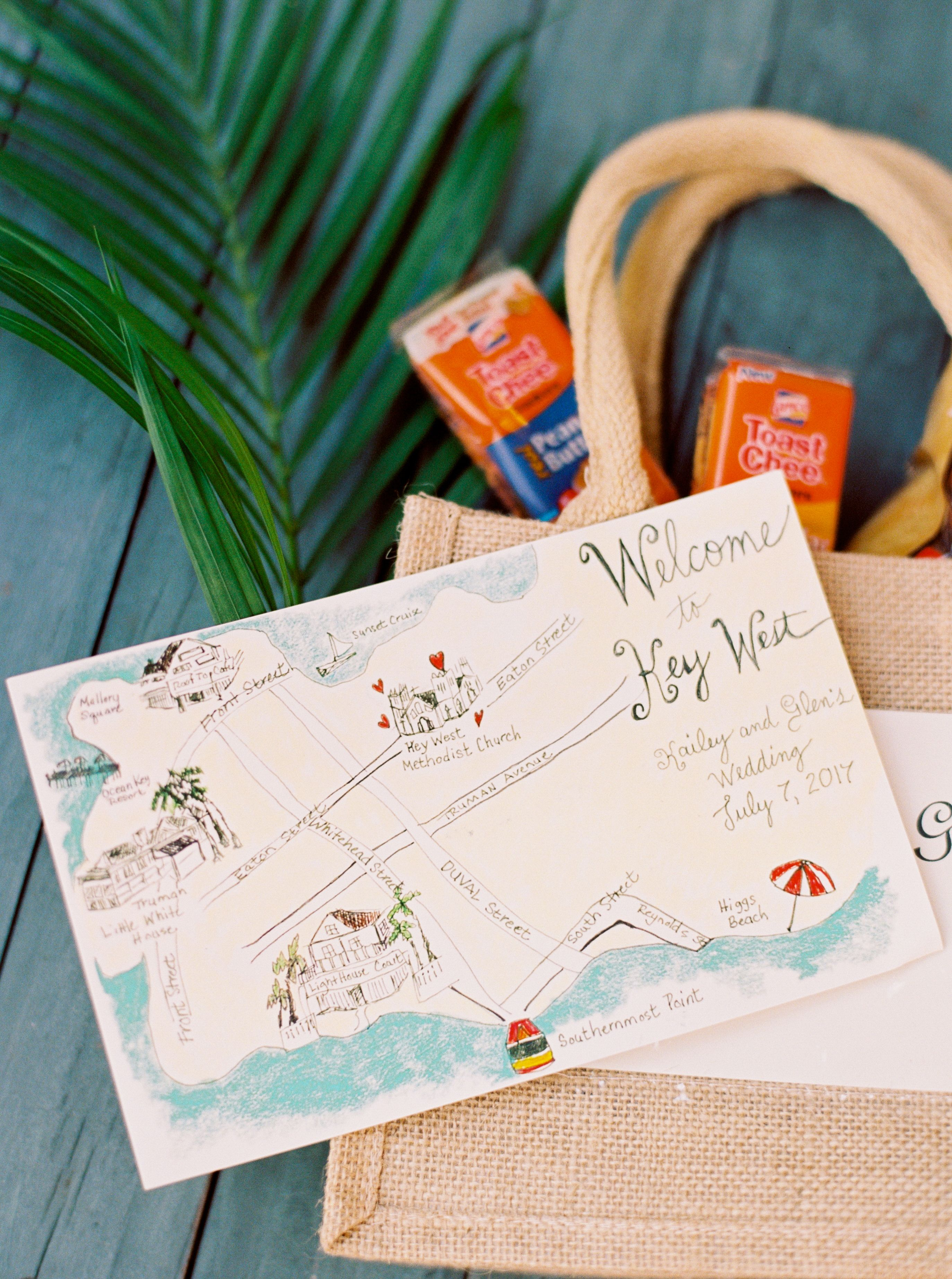 The Fun Never Stopped At This Key West Destination Wedding Map