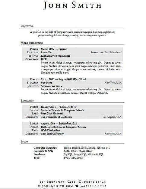 Microsoft Student Resume Templates Student Resume Templates - computer systems security officer sample resume