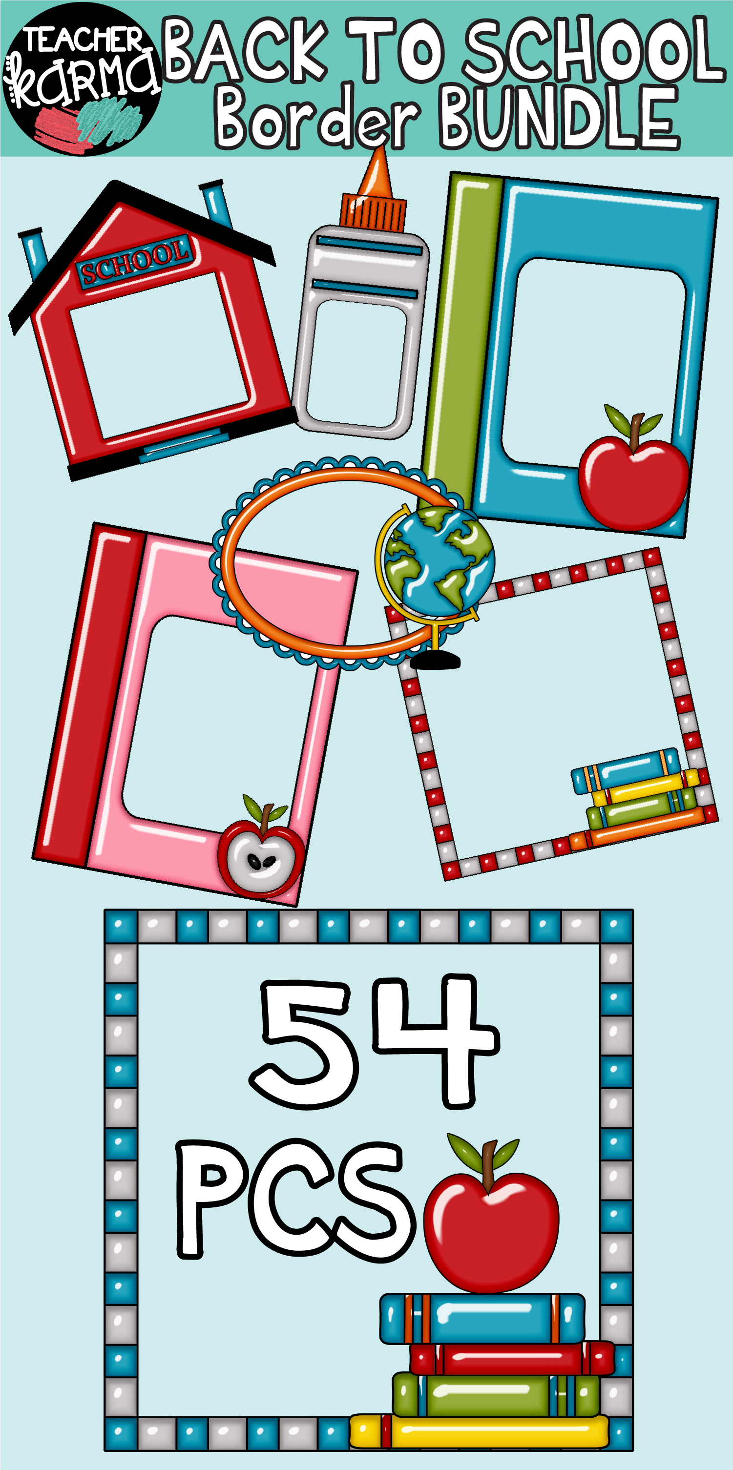 back to school borders, frames, clipart | back to school resources