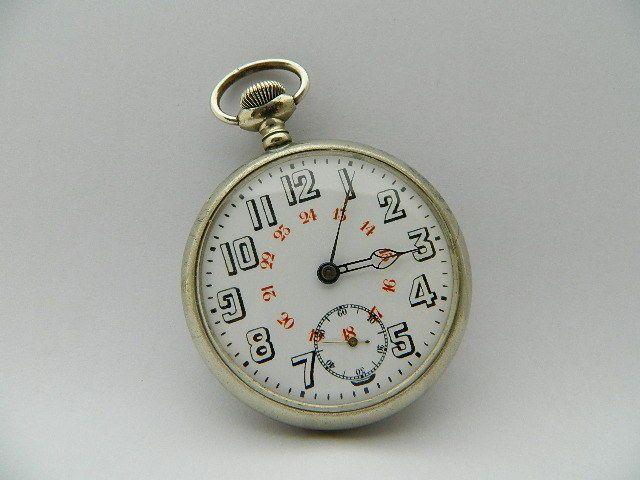 Visitate il mio negozio: http://www.ebay.it/sch/jumanantic/m.html Antico orologio da tasca funziona pocket watch working