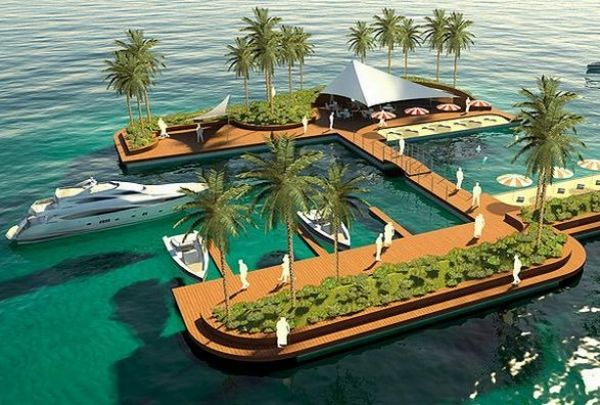 Artificial Islands Present Natural Retreat Floating On Waves