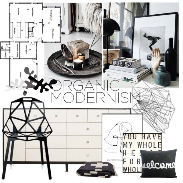 """""""Organic Modernism"""" by punnky-interiors on Polyvore"""