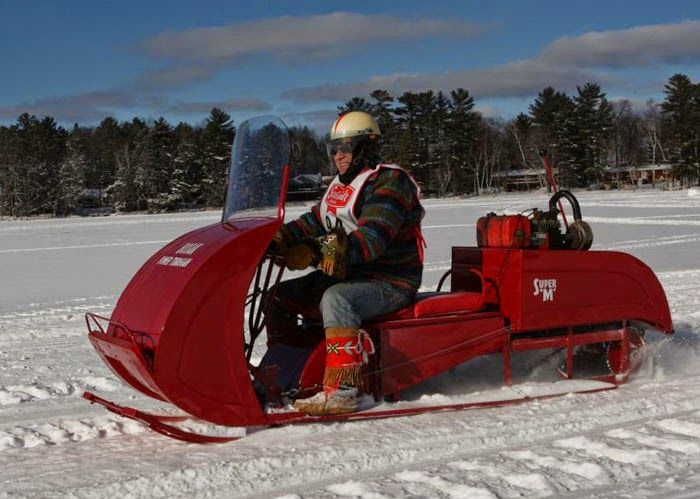 There is nothing quite like these vintage snowmobiles.