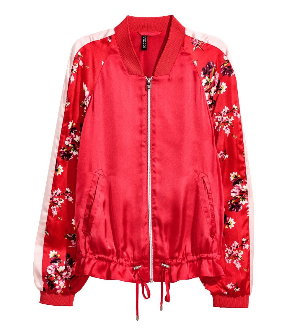 Stay On Trend With Our Must Have Spring Bomber Jacket In Every Color And Print Your Heart Desires Warm Satin Bomber Jacket Bomber Jacket Bomber Jacket Women [ 1137 x 972 Pixel ]