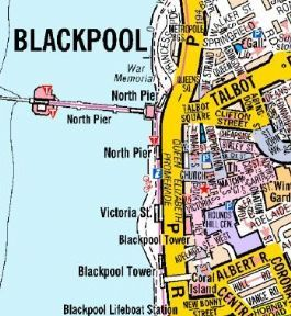 Blackpool A Z Wall Map A Z Wall Maps Pinterest Wall Maps - Blackpool map